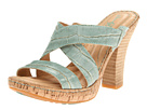 Born - Emden - Crown Collection (Sea Green Metallic Croc Print)