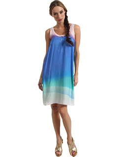 SALE! $214.99 - Save $173 on Paul Smith Printed Tank Dress (Blue) Apparel - 44.59% OFF $388.00