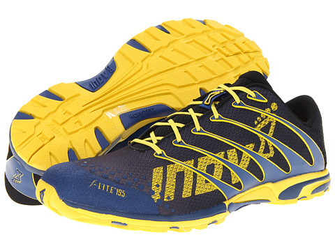 inov-8 - F-Lite 195 W/RopeTec (Grey/Blue/Yellow) Running Shoes