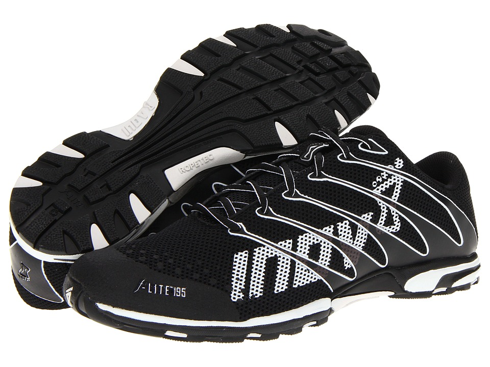 inov-8 - F-Lite 195 W/RopeTec (Black/White) Running Shoes