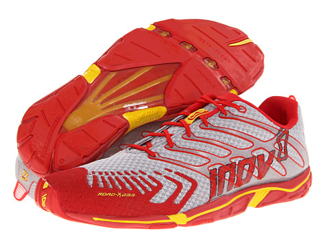 inov-8 - Road-X 233 (Grey/Red/Yellow) Running Shoes