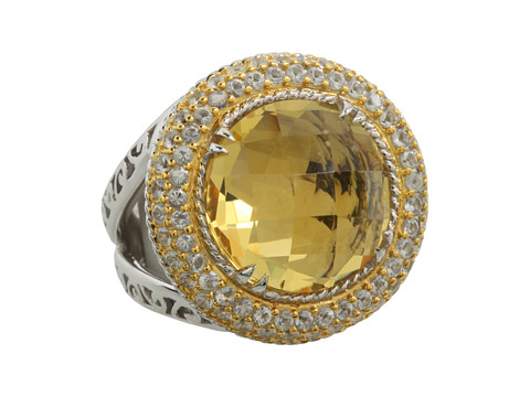 DeLatori - Citrine and Crystal Ring (Citrine/Sterling Silver) Ring