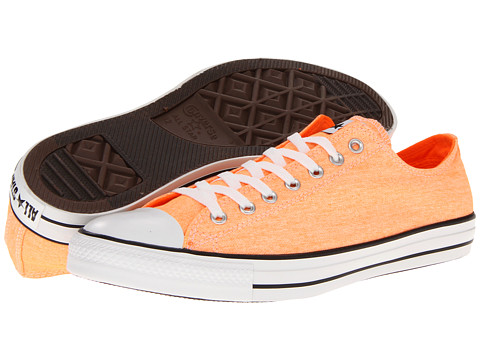Converse - Chuck Taylor All Star Washed Neon Ox (Neon Orange) Lace up casual Shoes