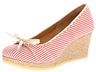 Clarks - Vogue Rose (White/Red Canvas) - Clarks Shoes