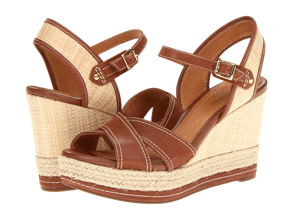 Clarks - Amelia Air (Cognac) Women's Wedge Shoes