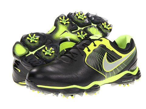 Nike Golf - Lunar Control II (Black/Reflective Silver/Volt/Black) Men's Golf Shoes