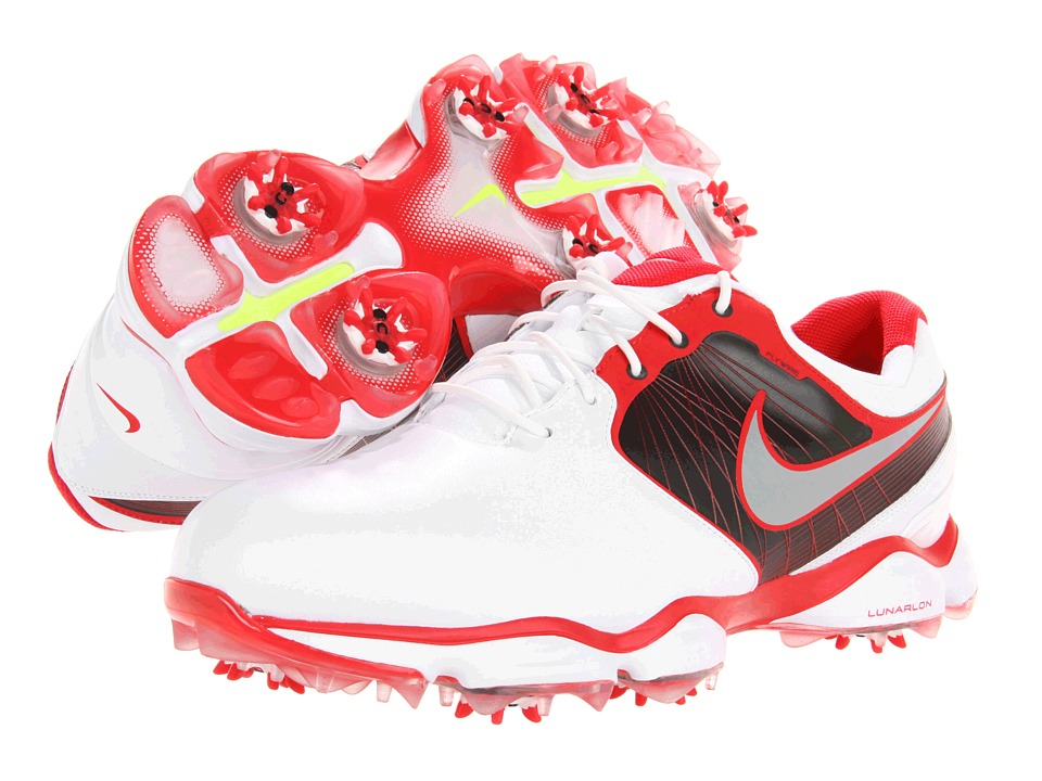 Nike Golf - Lunar Control II (White/Reflective Silver/Hyper Red/Anthracite) Men's Golf Shoes