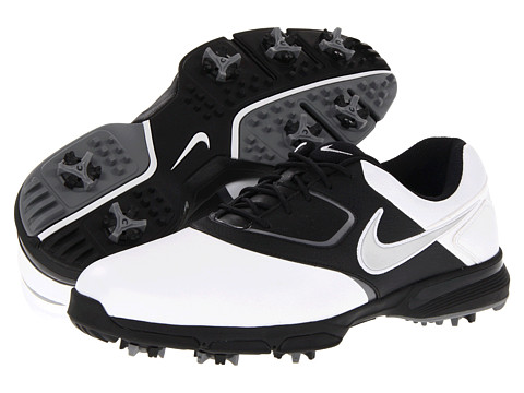 Nike Golf - Heritage III (White/Metallic Silver/Black/White) Men's Golf Shoes