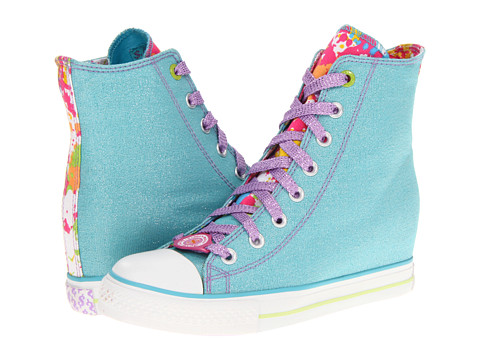 SKECHERS - Daddy's Money - Gimme Glitter Bomb (Aqua) Women's Lace up casual Shoes