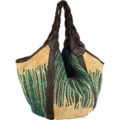 SALE! $204.99 - Save $134 on Krickette Large Reversible Kantha Tote (Green Natural Chocolate) Bags and Luggage - 39.53% OFF $339.00