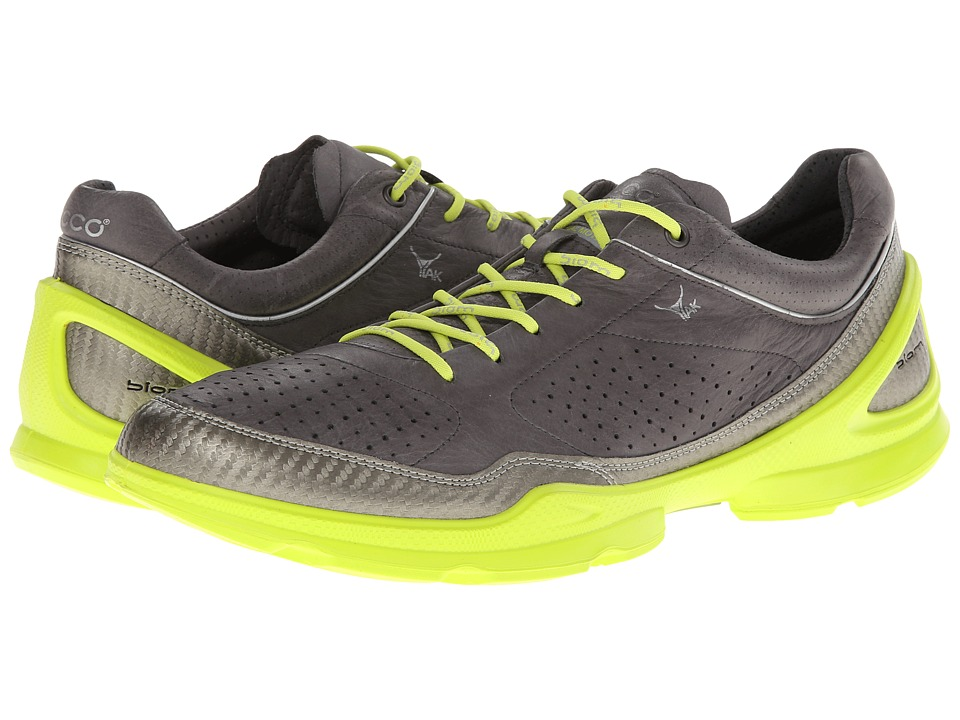 ECCO Sport - Biom Plus Evo Racer (Buffed Silver/Dark Shadow/Lime Punch) Men's Shoes