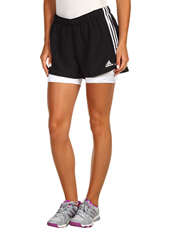 SALE! $16.99 - Save $11 on adidas Speedtrick 2 in 1 Short (Black White) Apparel - 39.32% OFF $28.00
