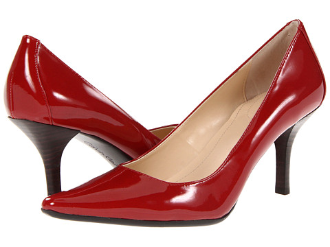 Calvin Klein - Dolly (Red Two Tone Patent) High Heels