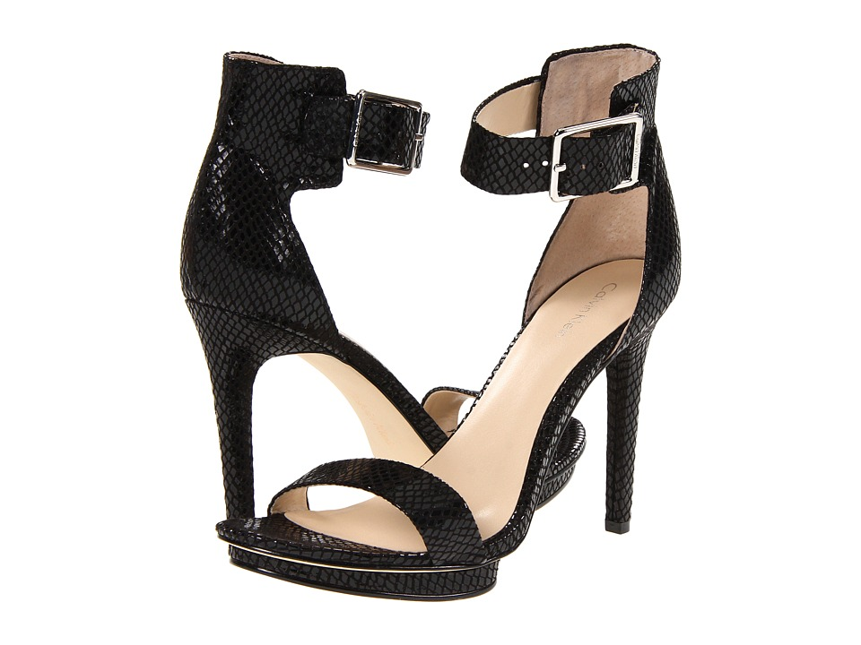 65817d80f71 ... UPC 663360710905 product image for Calvin Klein Vivian (Black Snake  Print Patent) High Heels ...