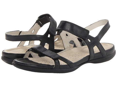 ECCO Flash Ankle Sandal (Black) Women's Sandals