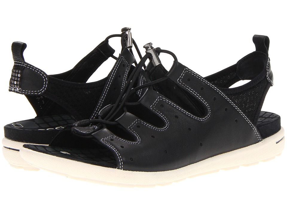 ECCO - Jab Toggle Sandal (Black/Black) Women's Sandals