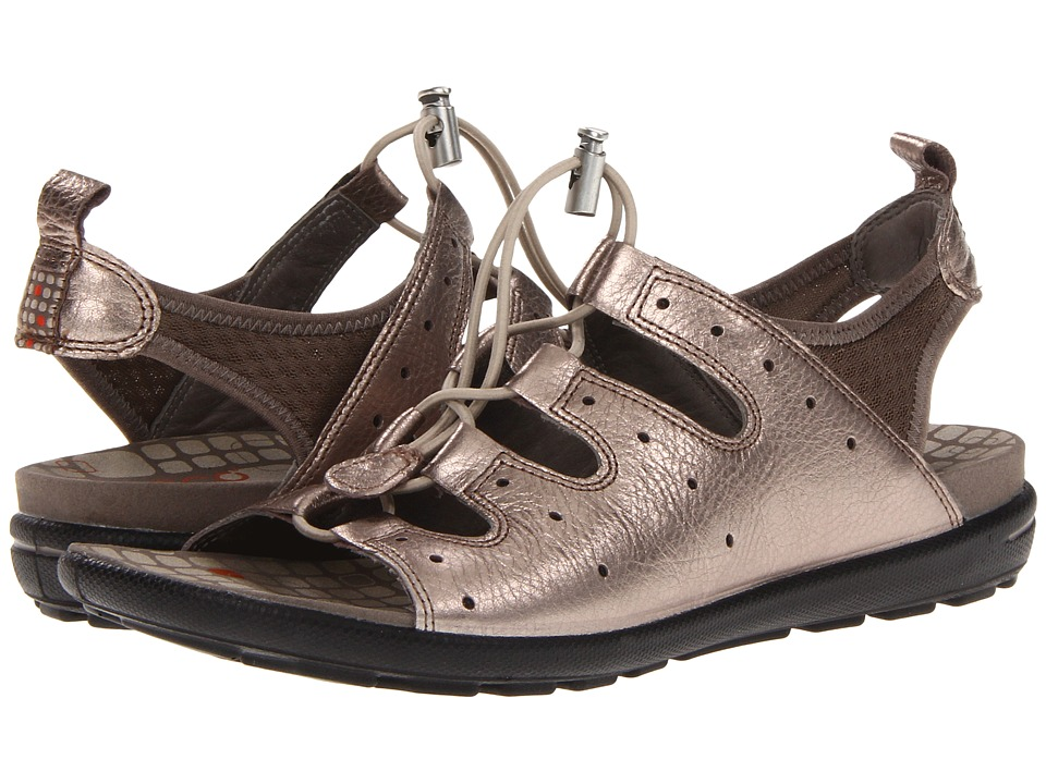 ECCO Jab Toggle Sandal (Warm Grey Metallic/Warm Grey) Women