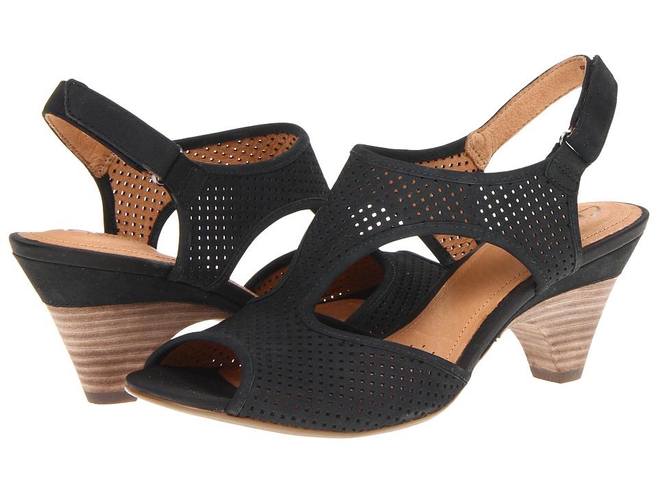 Clarks - Evant Julie (Black Leather) Women's Shoes