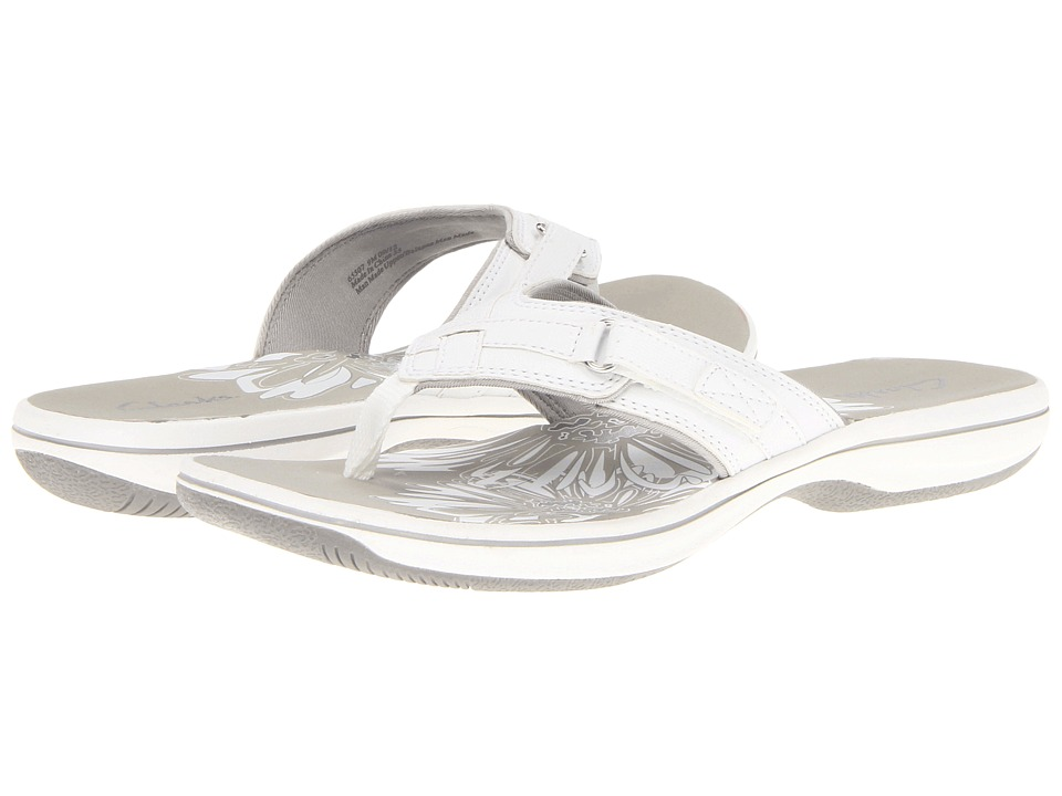 Clarks - Breeze Sea (White) Women's Sandals