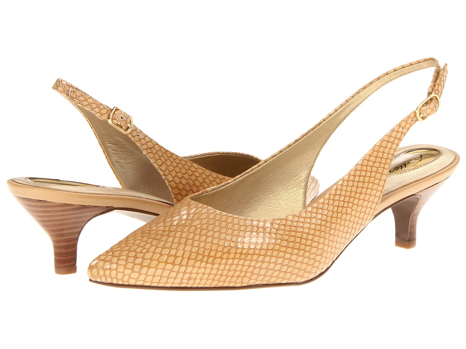 Trotters - Prima (Nude Snake) Women's 1-2 inch heel Shoes