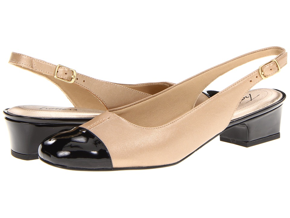 Trotters - Dea (Goldwash/Black) Women's 1-2 inch heel Shoes