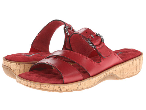SoftWalk - Bermuda (Red Veg Calf Leather w/ Cork Bottom) Women