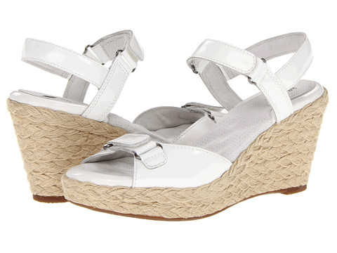 SoftWalk - San Marino (White Patent Leather) Women's Wedge Shoes