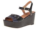 Corso Como Naan (Black/Mariner) Women's Wedge Shoes