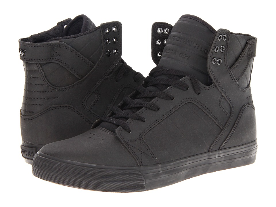 Supra - Skytop (Black Satin TUF) Men's Skate Shoes
