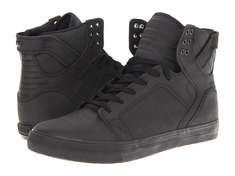 Supra - Skytop (Black Satin TUF) Men's Skate Shoes