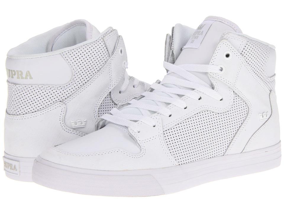 Supra - Vaider (White Perf Gunny TUF) Skate Shoes