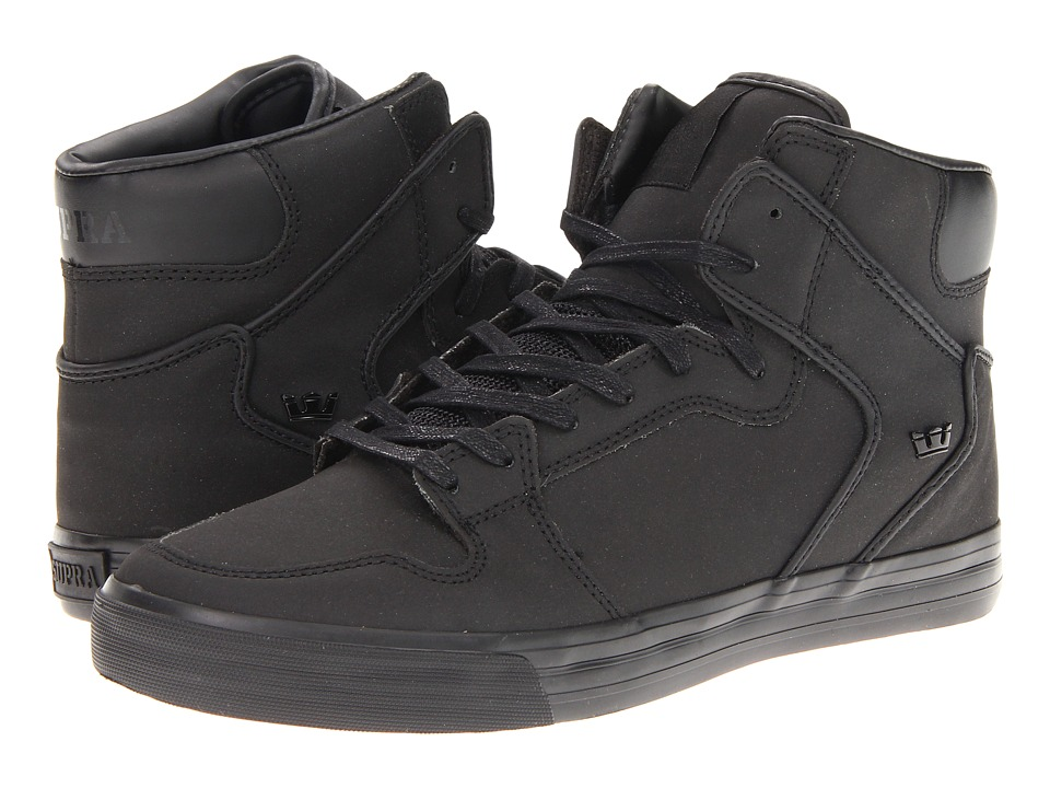 Supra Vaider (Black Satin TUF) Skate Shoes