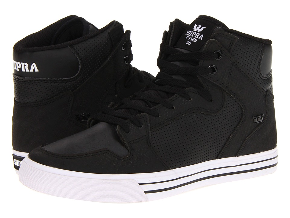 Supra - Vaider (Black/White Gunny TUF) Skate Shoes