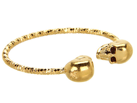 Alexander McQueen - Twin Skull Bracelet (Burgundy) Bracelet