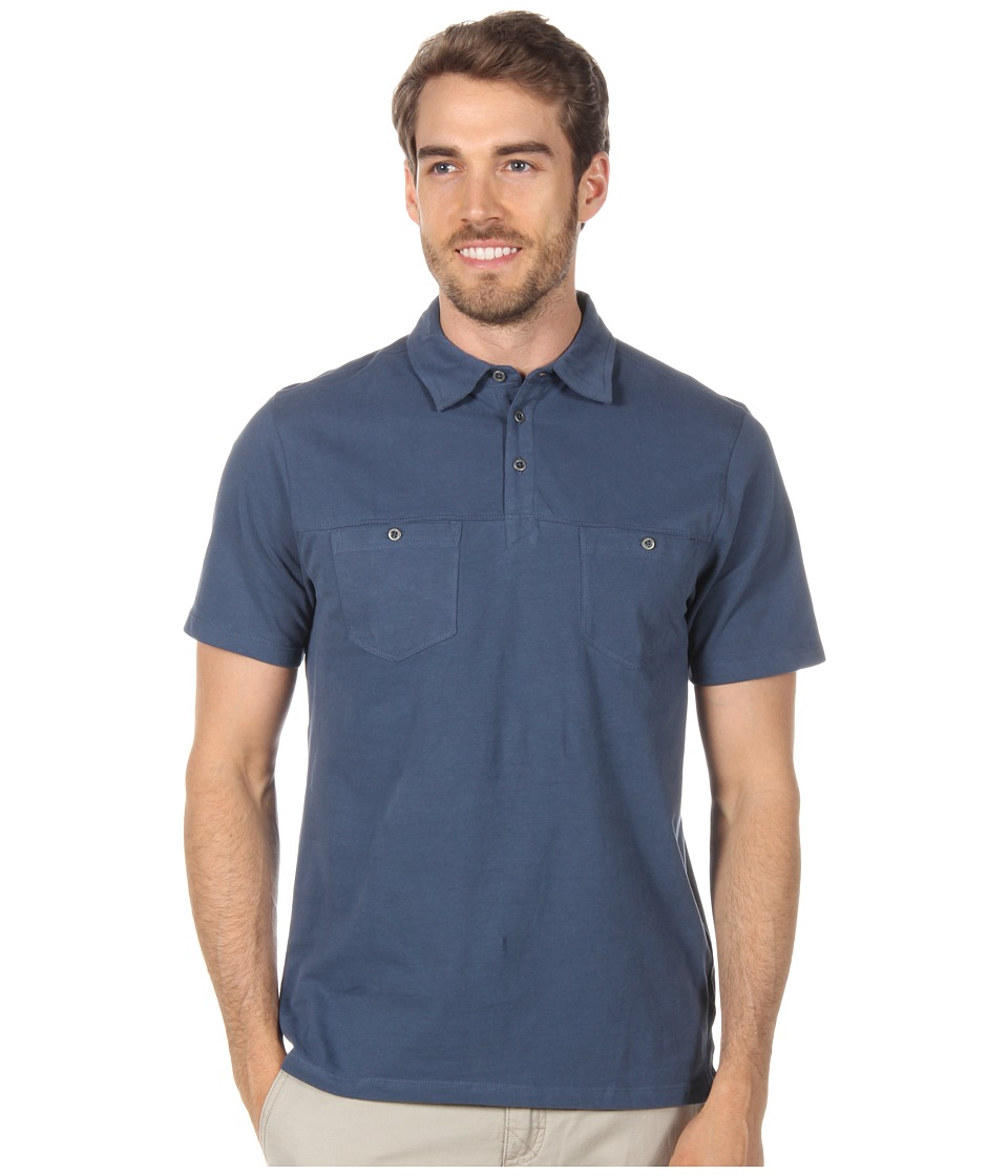 Toad&Co - Smooth Polo Shirt (Deep Blue) Men's Short Sleeve Knit