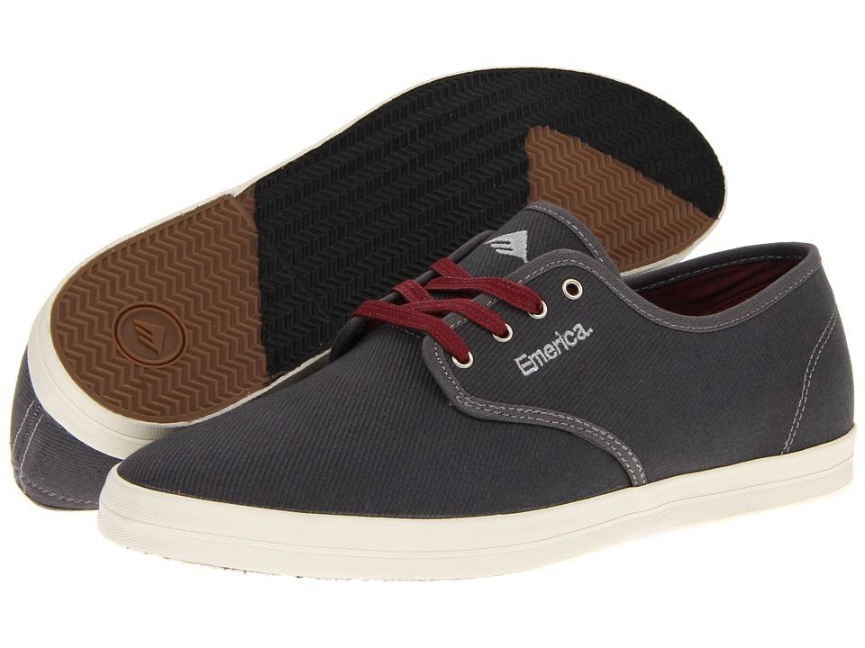 Emerica - The Wino (Grey/Grey Cotton Twill) Men's Skate Shoes