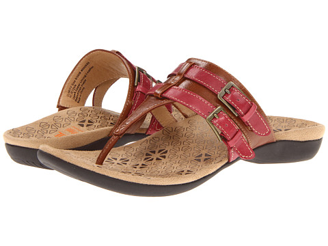 VIONIC - Dr. Weil with Orthaheel Technology Clarity Toe Post (Tan/Pink) Women
