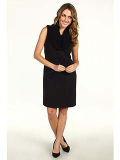 SALE! $64.99 - Save $65 on Calvin Klein Rib Neck Shift Dress (Black) Apparel - 49.81% OFF $129.50