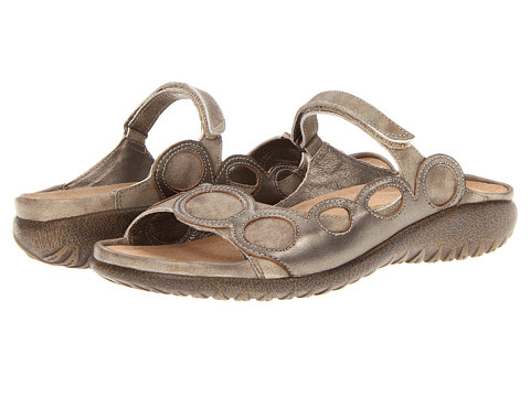 Naot Footwear - Totara (Vintage Beige Leather/Brass Leather) Women's Sandals