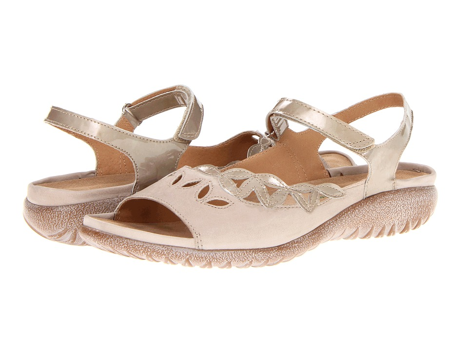 Naot Footwear - Nikau (Pearl Patent/Linen Combination) Women's Sandals