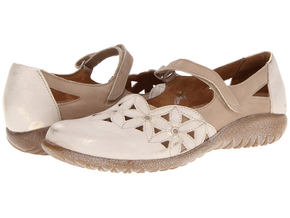 Naot Footwear - Toatoa (Dusty Silver Leather/Linen Leather) Women's Hook and Loop Shoes
