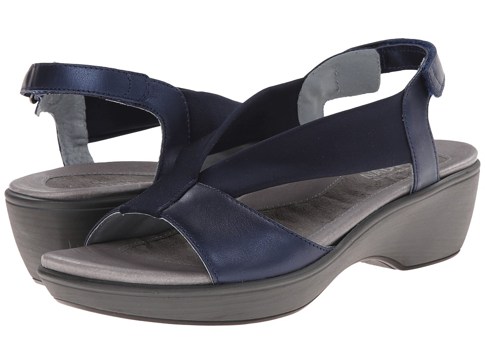 Naot Footwear - Muscat (Polar Sea Leather/Navy Stretch) Women