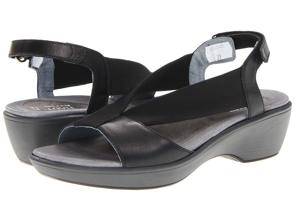 Naot Footwear - Muscat (Black Raven Leather/Black Stretch) Women's Sandals