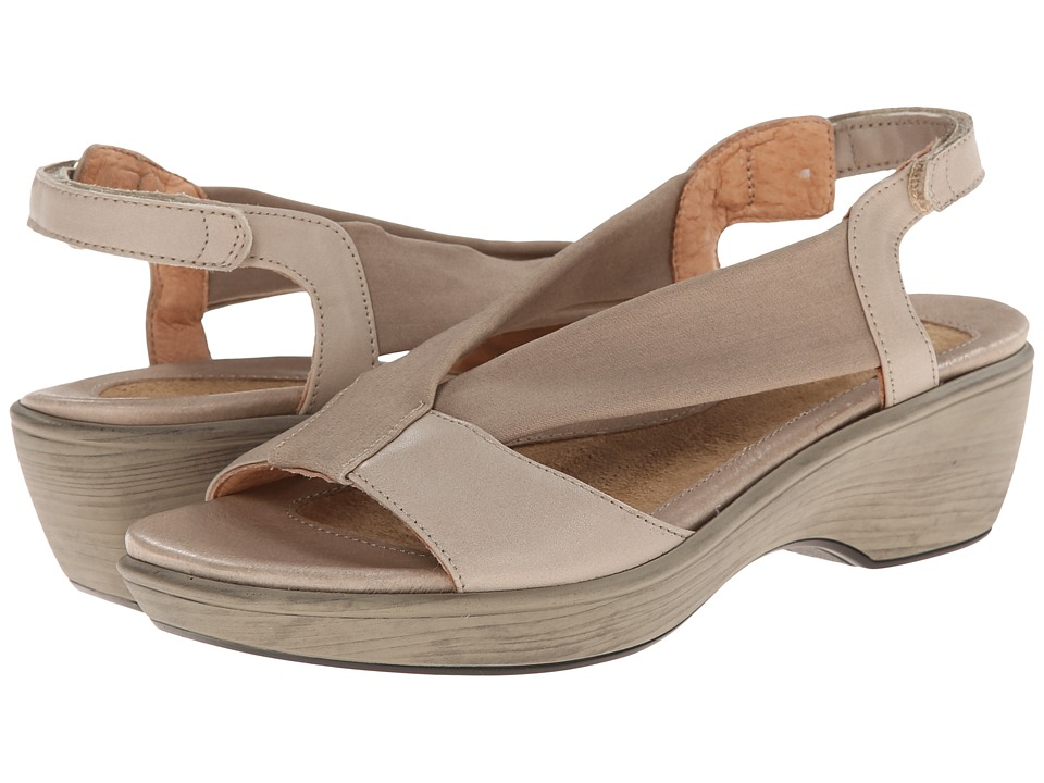 Naot Footwear - Muscat (Linen Leather/Beige Linen Stretch) Women's Sandals