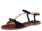 Paul Smith - Basil Black String Sandal (Black/Muted Mini Swirl) Sandal