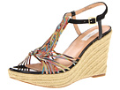 Paul Smith - Benita Wedge Sandal (Black/Muted Mini Swirl) Sandal