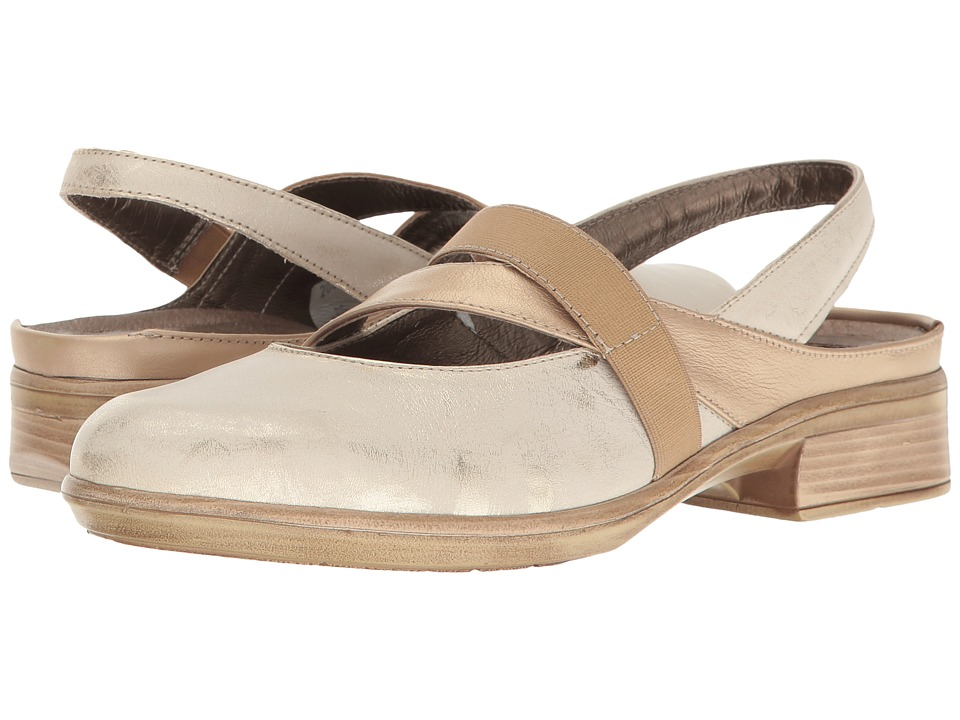 Naot Footwear - Mist (Dusty Silver Leather/Champagne Leather) Women's Slip on Shoes