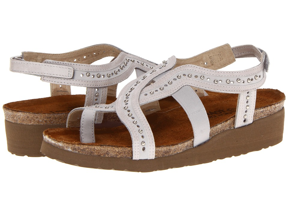 Naot Footwear - Hillary (Soft Gray Leather/Quartz Leather) Women's Sandals