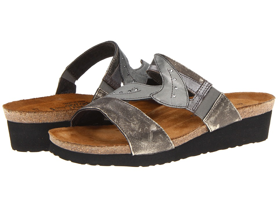 Naot Footwear - Kimberly (Metal Leather/Mirror Leather/Sterling Leather) Women's Sandals