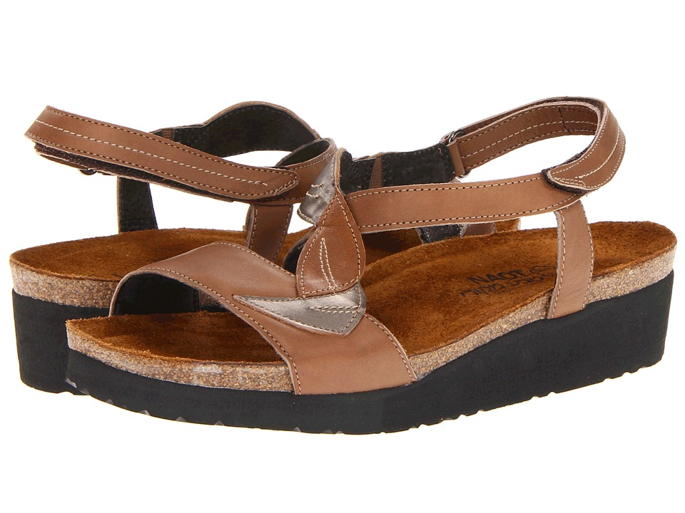 Naot Footwear Caroline (Tan Brown Leather/Pewter Leather/Chestnut Leather) Women